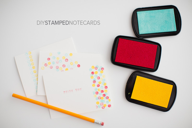 Press Here and DIY Stamped Notecards Kaley Ann