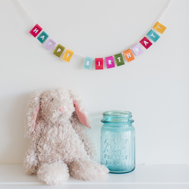 mini birthday bunting