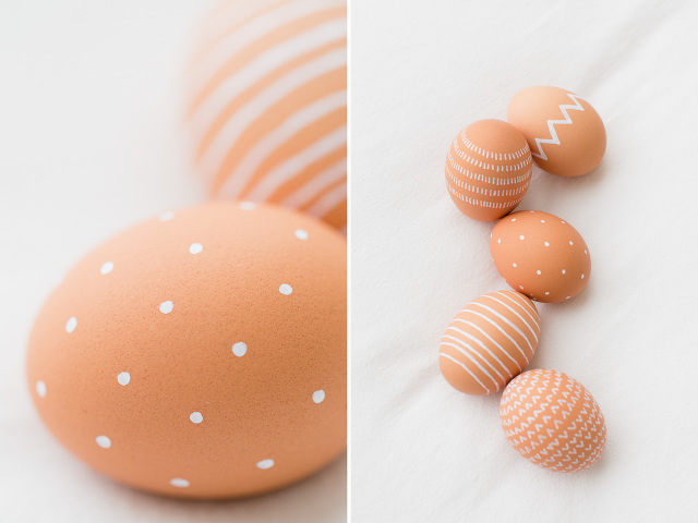 Natural Brown Eggs with White Paint