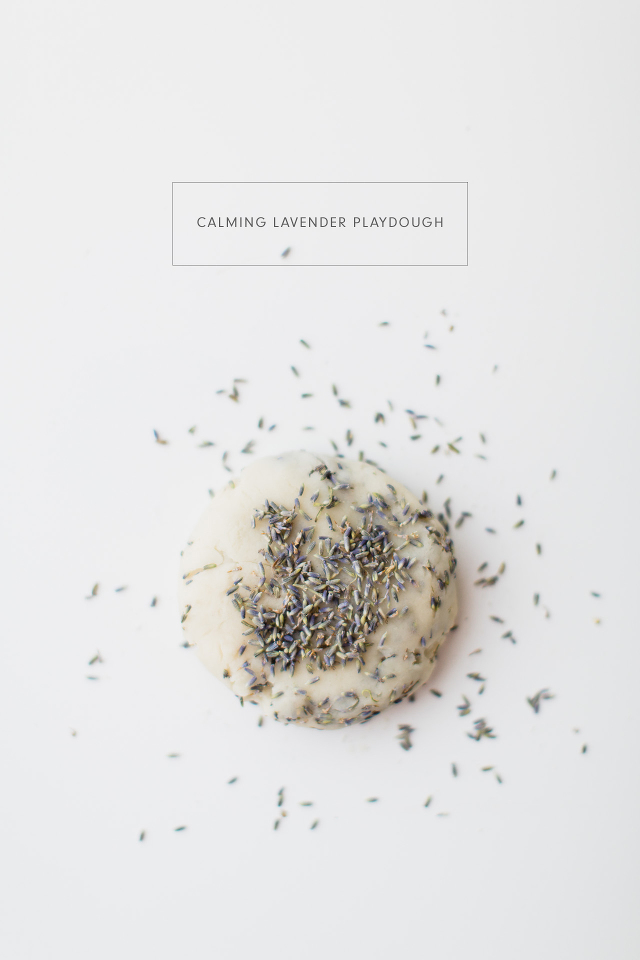 DIY Calming Lavender Playdough
