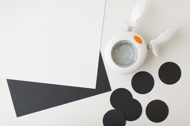 Black and white paper garland