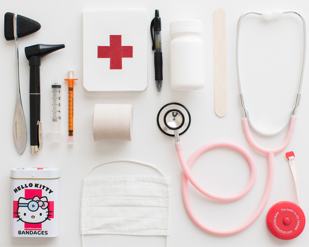 Kids love to play as doctor. Have a mini-medical kit your kids can play with.