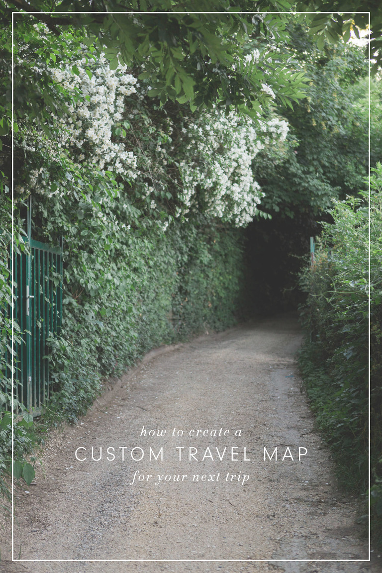 how to create a custom travel map